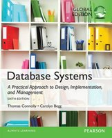 9781292061184 | Database Systems A Practical Approach to Design, Implementation, and Management, Global Edition