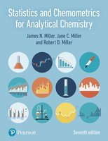 9781292186719 | Statistics and Chemometrics for Analytical Chemistry